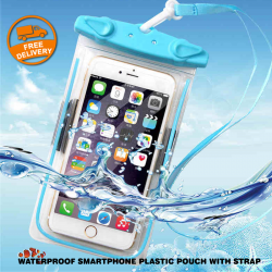 Universal Waterproof Smartphone Plastic Pouch With Strap, C03