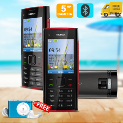 2 in 1 Bundle Offer , Nokia X2-00R Mobile phone , Multi-Colour MP3 Player