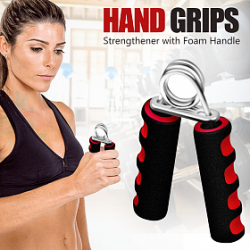 Liveup 2 Pieces Hand Grips  Fitness Stainless Steel Spring, AW005