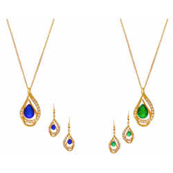 Dong Gurami 2 Pices 22K Gold Plated Necklace Set, DG117