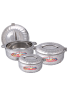 National Stainless Steel 3Pcs Hot Pot, Flora Design, DN1527