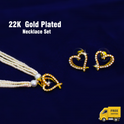 Dong Gurami 22K Gold Plated Necklace Set, TR582