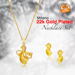 Milano 22K Gold Plated Necklace Set, ML505