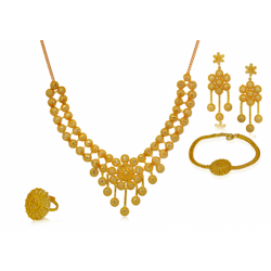 Nilanjan Arts 18K Gold Plated Fancy Necklace Set, DC04