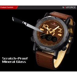 Naviforce Dial Men Fashion Military Stainless Steel Date Sports Quartz Watch, 9094