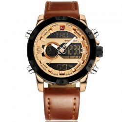Naviforce Dial Men Fashion Military Stainless Steel Date Sports Quartz Watch, 9097