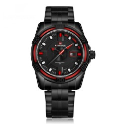 Naviforce Dial Men Fashion Military Stainless Steel Date Sports Quartz Watch, 9079