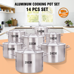 14 Pcs Set Aluminum Cooking Pot Set, AC456