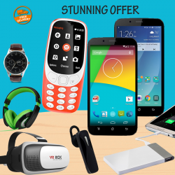 Stunning offer 8 in 1 bundle offer , 2 pcs Nova N9,VR BOX ,RockPapa Over Ear Stereo Headphones ,H-Mobile 3310,Universal Multi-Color 4,200 mAh Power Bank,Bluetooth Mono Headset ,Yazole Watch