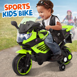 Sports Kids Bike With Music, Lights, Horn, 6V Battery & 1 Motor Powered 3+ Ages, PRLQ158