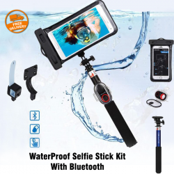 Ashutb  X Play WaterProof Selfie Stick Kit , With Bluetooth, KIT-S6WP