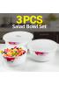 Cindrella Opal Glassware 3 Pcs Salad Bowl Set, CA102