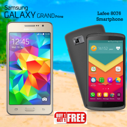 2 in 1 Bundle Offer, Samsung Galaxy Grand Prime Smartphone, Lafee Smartphone
