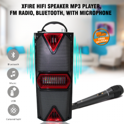 Xfire Hifi Speaker Mp3 Player, Fm Radio, Bluetooth, With Microphone, MK701